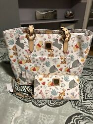 Disney Parks Dooney & Bourke WINNIE THE POOH Tote with Wallet  NWT's