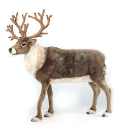 Nordic Reindeer Realistic Hansa Soft Animal Plush Toy 130cm Free Delivery