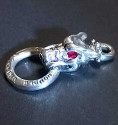 Vintage Raretravis Worker Gargoyle With Ruby Necklace From Japan Free Shipping