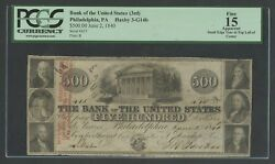 500 1840 Bank Of The United States Phila.pa S/n 415 Pcgs 15 Fine App Wlm6579