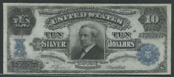Fr302 10 1908 Silver Certificate Tombstone Choice Vf+ Wlm6638