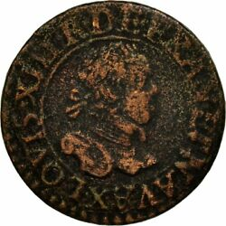 [651639] Coin France Louis Xiii Double Tournois 1615 Amiens Vf20-25