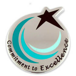 Pinmart's Commitment To Excellence Employee Recognition Award Magnetic Lapel Pin