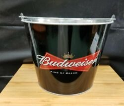 2 Budweiser Bowtie Ice Bucket Party Drink Beer Holder Pail Mancave 2005 New