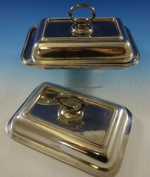 Bead by Walker amp; Hall Sterling Silver Covered Vegetable Dish amp; Extra Cover #2645
