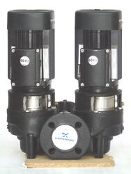New Grundfos Tpd 40-160/2 Centrifugal Pump Twin Motor 50-60 Hz Made In Hungary