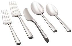 Malmo by Kate Spade NY Stainless Steel Flatware Set Service for 12 New 81 pieces