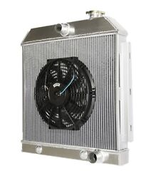 3 Core Performance Radiator+12 Fan Fits 55-57 Chevy Bel Air/nomad/150/250 Mt V8