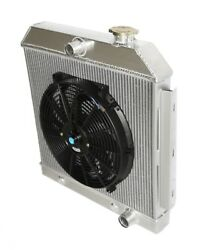 3 Core Performance Radiator+14 Fan Fits 55-57 Chevy Bel Air/nomad/150/250 Mt V8
