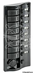 Osculati Polished Graphite Electric Control Panel With 8 Flush Rocker Switches