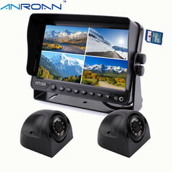 Backup Camera And Monitor Kit 9 Quad Monitor Dvr Recorder Car Side View Camera