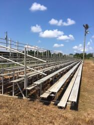 Used Bleachers Aluminum gently used once a year 30 sections