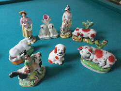 STAFFORDSHIRE FIGURINES SCULPTURES INDIVIDUALLY SOLD $ 125 EA
