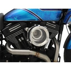 Trask Raw Machined Assault Charge Stage 1 High Flow Air Cleaner Harley 01-17 Big