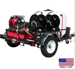 PRESSURE WASHER Commercial - Trailer Mounted - 6 GPM  7000 PSI - 37 Hp Kohler