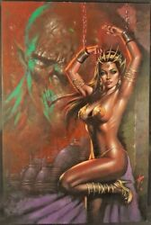 DYNAMITE Comics WARLORD OF MARS #14 COVER Original Art Painting Lucio Parrillo