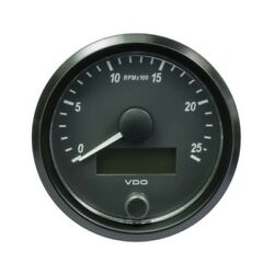 Vdo Singleviu Tachometer Gauge 2.500 Rpm 80mm-3 1/8and039 A2c3832970010 10 Pcs Boat