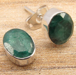 Silver Plated Jewelry Simulated Emerald Stud Earrings Huge Lot 50 100 Packs