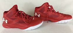 Under Armour UA Clutchfit Drive 2 Basketball Shoes Red White 1258143-603 Sz 12.5