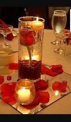 New 80 Bulk Cylinder Vases Wedding Glass Table Centerpiece Candle Holders