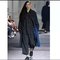 Yohji Yamamoto Pour Homme Bicolor Coat 17ss Collection Size 2 Rare Free Shipping