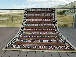 Fine Antique 1900-1930and039s Tent-woven 5x9ft Natural Dye Tribal Shirvan Kilim