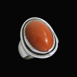 Georg Jensen. Sterling Silver Ring With Coral 46a - Harald Nielsen - 1933-44