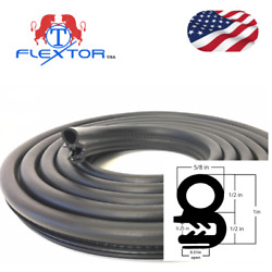 14 Feet Rubber Car Door Seal Weatherstrip Body Mounted Front Left Or Right.