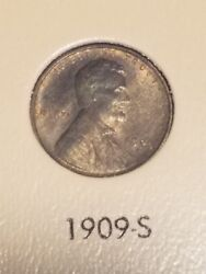 1909-s Lincoln Cent Wheat Penny, Scarce Key Date, Gem Uncirculated