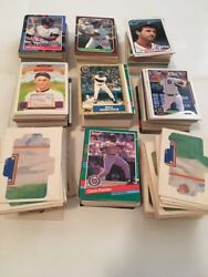 Detroit Tigers Baseball Cards - Lot Of 681 Cards + 84 1983 Ty Cobb Puzzle Pieces