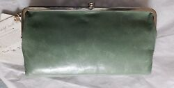 NWT Hobo International Lauren WalletClutch Double Frame    Bottle Green