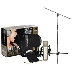 Rode NT1-A Cardioid Condenser Mic Recording Package with a Tripod Base