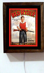 Daisy Red Ryder Bb Gun Boy And Rifle Retro Vintage Advertising Light Lighted Sign