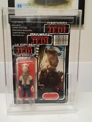 Vintage Star Wars Tri Logo 1983 Yak Face MOC MOSC Holy Grail Clear Unpunched!