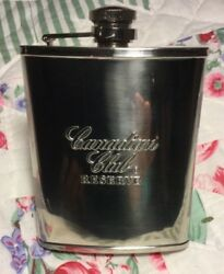 Canadian Club - Stainless Steel - Flask With Canadian Club Shot Glass -