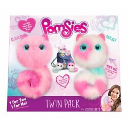 Pomsies Pinky And Speckles Plush Interactive Pet Wearable Pom-pom