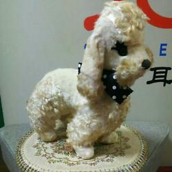 Very Rare Antique French Poodle 60and039s Vintage Stuffed Animals Toy Retro Japan