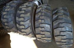 4- Tires With Wheels New Holland Ls Skid-steer Tire Size 14-17.5 14175