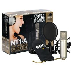 Rode NT1-A Studio Package Cardioid Condenser Microphone Podcast Record NEW