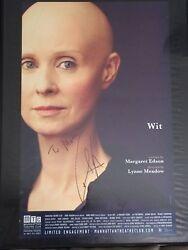 Wit - Signed By Cynthia Nixon - Signed Window Card/poster