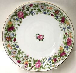 Crown Staffordshire Thousand Flowers Cake Plate 9-3/8