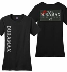 Lb7 Duramax T-shirt - Womens - Vintage Sign Double Sided Print