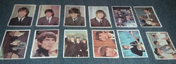 Lot Of 35 Beatles Topps Color Trading Cards 1964 - Free Shipping