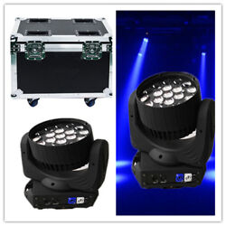 2pc/lot 19x15w Rgbw Led Wash Zoom Beam 3in1 Moving Head Light With Road Case