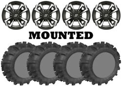 Kit 4 Legacy 589 MS Tires 27x9-1227x11-12 on Sedona Riot Machined Wheels ACT