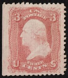 Us Sc 85 Unused Ng Lh { Rare D Grill -xf- Jumbo } 3c Washington From 1867