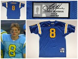 Men's Troy Aikman 8 Ucla Bruins Russell Athletic Throwback Stitched Jersey 56