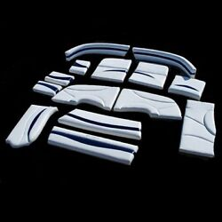 Larson 204 IO 2009 Dark Blue  White 14 Piece Boat Cushion Set 08849553