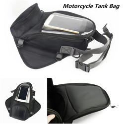 Universal Motorcycle Tank Bike Oil Fuel Tank Phone Saddle Pouch Bag Oxford Cloth
