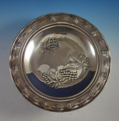 Rose Point By Wallace Sterling Silver Tray With Grapes Round 4455-9 2920